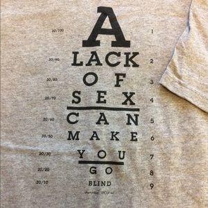Graphic tee shirt gag gift nsfw medium
